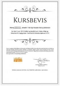 Godkjent HMS-Kursbevis